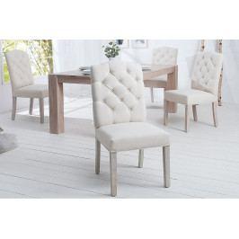 Bighome - Jedálenská stolička KASTLE - smotanová
