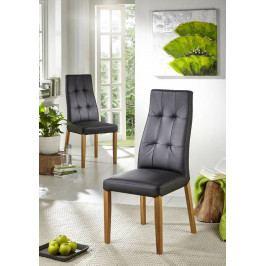 Bighome - HAMBURG II. Jedálenská stolička, koža, čierna