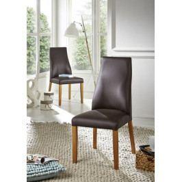 Bighome - HAMBURG IV. Jedálenská stolička,koža, hnedá