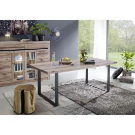 Bighome - VEVEY Jedálenský stôl 180x90 cm, svetlohnedá, dub
