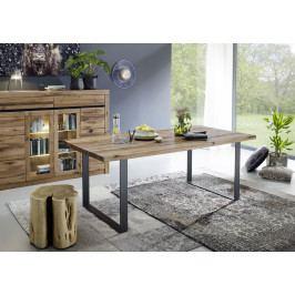 Bighome - VEVEY Jedálenský stôl 200x100 cm, tmavohnedá, dub