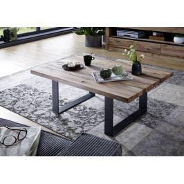 Bighome - VEVEY Konferenčný stolík 90x90 cm, svetlohnedá, dub