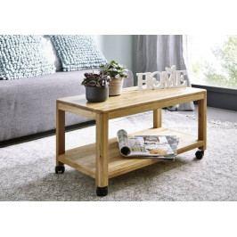 Bighome - VIENNA Servírovací stolík 75x40 cm, dub
