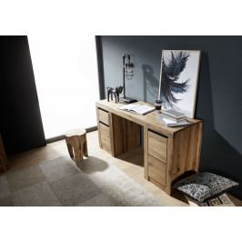 Bighome - VEVEY Písací stôl 150x50 cm, tmavohnedá, dub