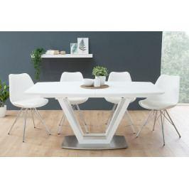 Bighome - Jedálenský rozkladací stôl IMPERIA 160-220 cm - biela