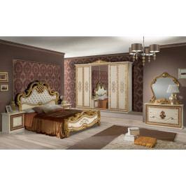 Bighome - Spálňa ANITO 180 - zlatá, béžová