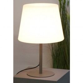 Stolná lampa OUTDOOR - sivá/biela