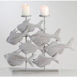 Svietnik FISHIES - sivá