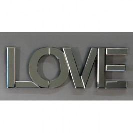 Dekorácia na stenu LOVE - strieborná