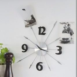 Nástenné hodiny MEMO - strieborná