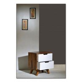 Nočný stolík SIXTO 60 cm - hnedá