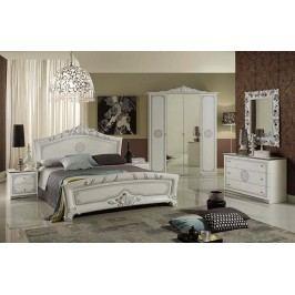 Štýlová talianska spálňa so 6-dverovým šatníkom MARGARET LUX - biela