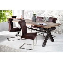 Jedálenská stolička SAMSSON - hnedá