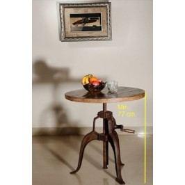 okrúhly stôl #21, liatina a staré drevo