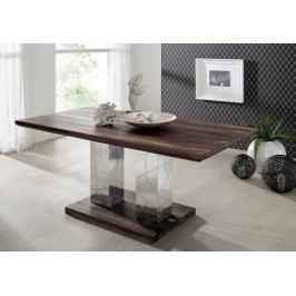 PLAIN SHEESHAM jedálenský stôl 178x90 olejovaný indický palisander, sivá