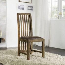PLAIN SHEESHAM stolička olejovaný indický palisander, sivá