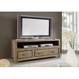 NATURAL TV stolík prírodný olejovaný indický palisander