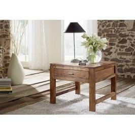 KOLINS príručný stolík so šuplíkom, akácia, medová