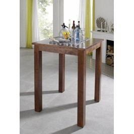 Koloniálny barový stôl 85x85 masívna akácia
