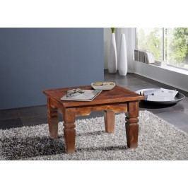 GEOFFREY  Koloniálny konferenčný stolík 90x90 masívny akáciový nábytok