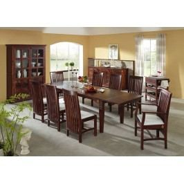SUNO  Koloniálny jedálenský stôl 180-260x90 masívny akáciový nábytok