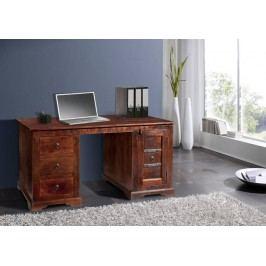 Koloniálny písací stôl, masívne akáciové drevo