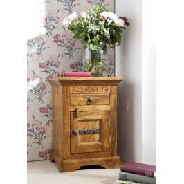 HONEY nočný stolík, masívne akáciové drevo, medová