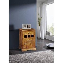 HONEY Kolonial nočný stolík, masívny akáciový nábytok, medová