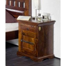 Koloniálny nočný stolík, masívny akáciový nábytok