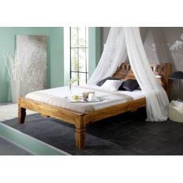 HONEY posteľ 140x200 masívne akáciové drevo, medová