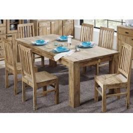 Sheesham jedálenský stôl 220x100, masívne palisandrové drevo