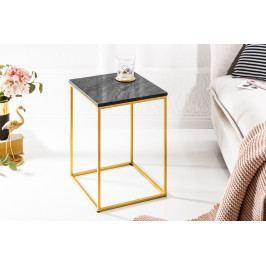 Bighome - Príručný stolík NOBL 30 cm - zlatá, čierna