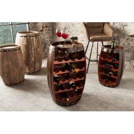 Bighome - Regál na víno CASK 80 cm - kávová