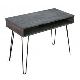 Bighome - Písací stôl MATIS 100 cm - sivá