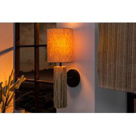 Bighome - Nástenná lampa EUPHORIA - prírodná/biela