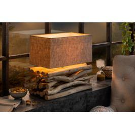Bighome - Stolná lampa EUPHORIA - prírodná/biela