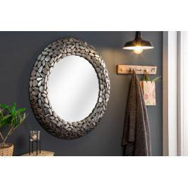 Bighome - Zrkadlo STONE MOZAIKA - strieborná