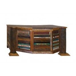 OLDTIME písací stôl lakované staré indické drevo