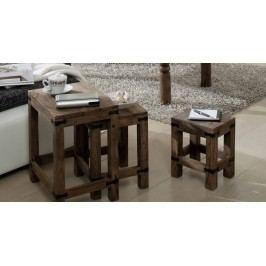 CASTLE príručný stolík-Set olejovaný palisander
