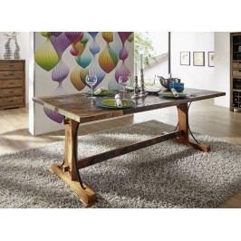 OLDTIME jedálenský stôl - 140x90cm lakované staré indické drevo