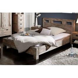 Sheesham posteľ 140x200, masívne palisandrové drevo