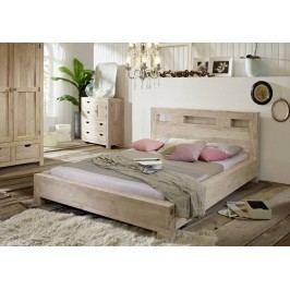 posteľ 140x200cm maľovaný akáciový nábytok
