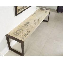 lavica - 160x45 liatina a mangové drevo, potlač