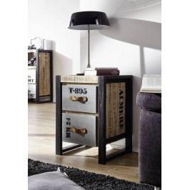 príručný stolík #123, liatina a mangové drevo, potlač