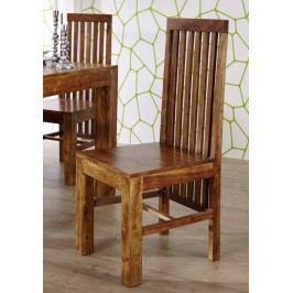 MUMBAJ Designer stolička, vysoká opierka  medová