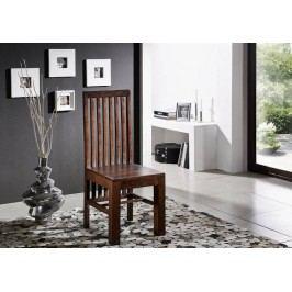 MUMBAJ Designer stolička, vysoká opierka nugátová