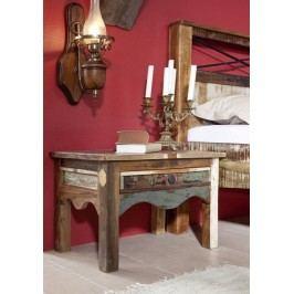 OLDTIME nočný stolík lakované staré indické drevo