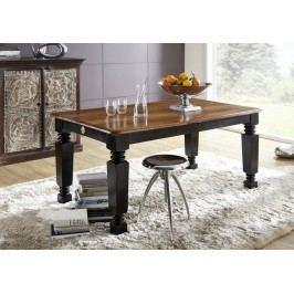 KOLONIAL jedálenský stôl 198/238x100cm lakovaný palisander