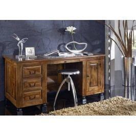 KOLONIAL písací stôl lakovaný palisander