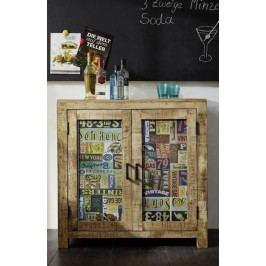 komoda #47, liatina a mangové drevo